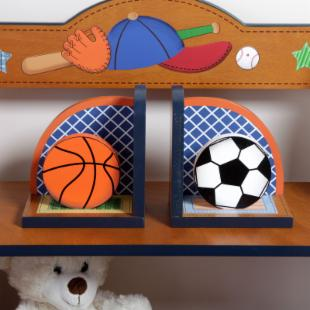 Teamson Kids Little Sports Fan Bookends
