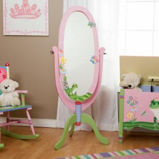 Teamson Kids Magic Garden Standing Mirror and Chest