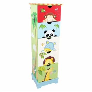Teamson Kids Sunny Safari 5 Drawer Tall Cabinet