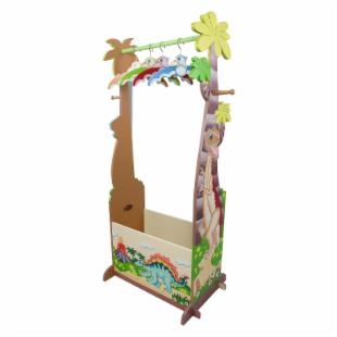 Teamson Kids Dinosaur Kingdom Coat Rack with Storage