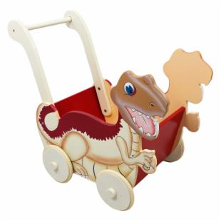 Teamson Kids Dinosaur Kingdom Childrens Toy Push Cart