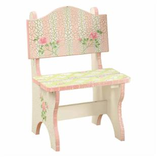 Teamson Kids Crackle Rose Tea Chair 