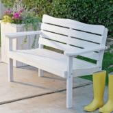  Cape Maye Weathered Bench - Antique White