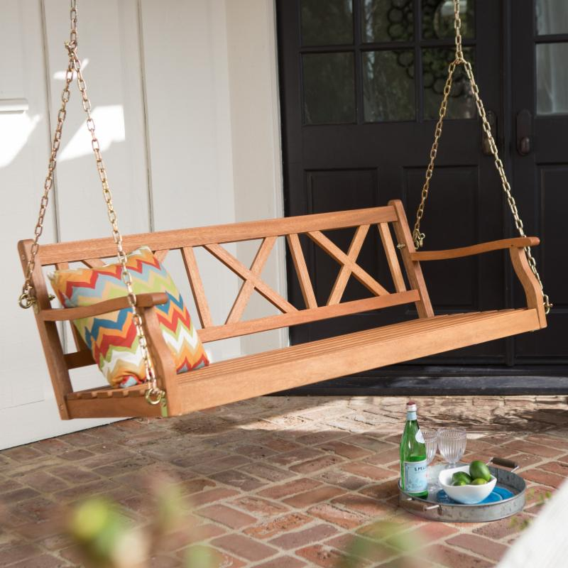 Belham Living Brighton 5 ft. Wood Porch Swing FREE SHIPPING!