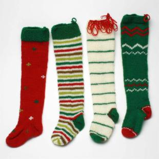 Tag Holiday Knitted Stockings - Set of 4