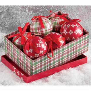 Tag Chalet Ornaments - Box Set of 6