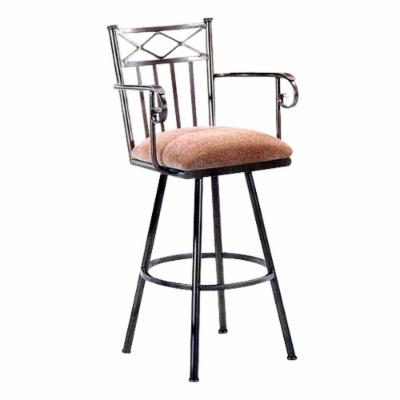 Tempo 34-Inch Arlington Extra Tall Swivel Bar Stool with Arms Pas