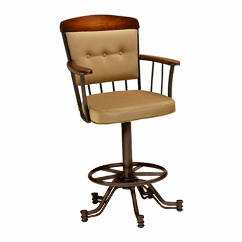 Barrington Home Vermont 30 In Leather Swivel Bar Stool