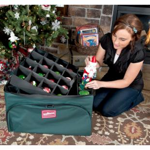 TreeKeeper Ornament Storage Bag with Deep Side Pockets