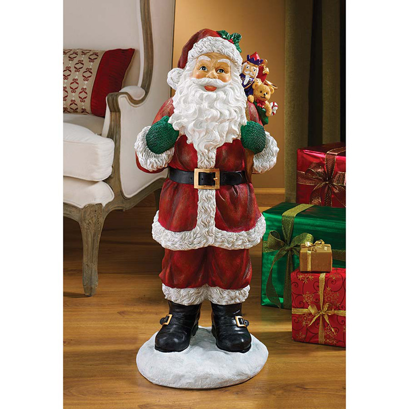 Design toscano a visit from santa claus holiday statue