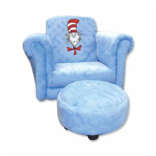 Trend Lab Chair - Blue Velour Cat in the Hat