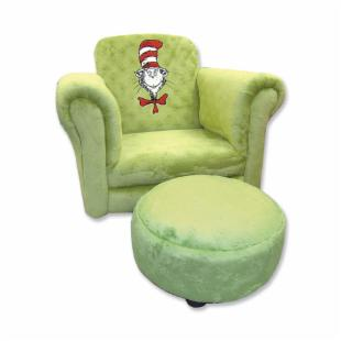 Trend Lab Chair - Olive Velour Cat in the Hat