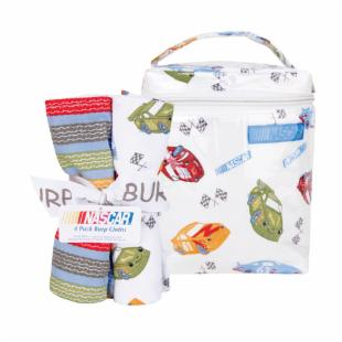Trend Lab Nascar Bottle Bag &amp; Burp Cloth Bouquet Set