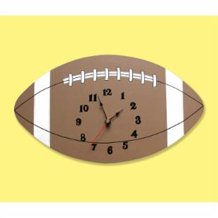 Trend Lab Football Wall Clock - 13 Inches Wide