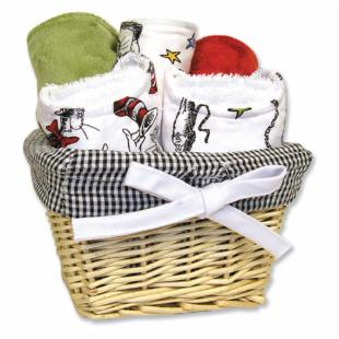 Trend Lab Dr. Seuss Cat in the Hat 7 Piece Gift Basket