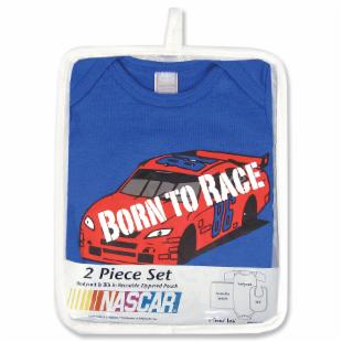 Trend Lab NASCAR Born to Race Bodysuit &amp; Bib Gift Set
