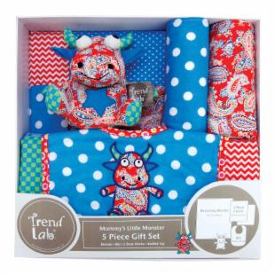 Trend Lab Mommy's Little Monster 5 Piece Gift Set