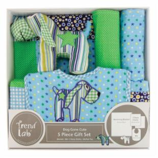 Trend Lab Dog Gone Cute 5 Piece Gift Set