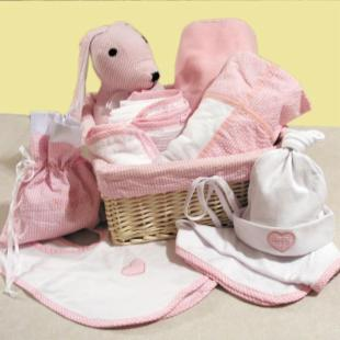 Trend Lab 12 Piece Deluxe Pink Set Baby Gift Basket