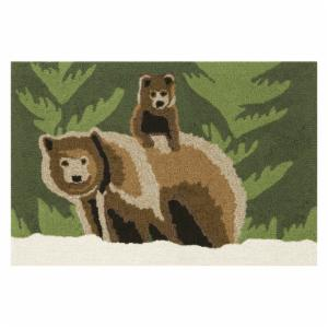 Trans-Ocean Bear Family Forest Indoor/Outdoor Rug