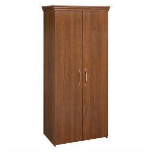 Black & Decker Tall 2 Door Wardrobe with Crown Molding -Walnut