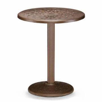 Telescope Casual 30 In Round Cast Top Patio Counter Height Table With Umbrel