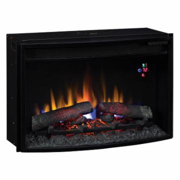 Classic Flame 25 In Curved Electric Fireplace Insert With