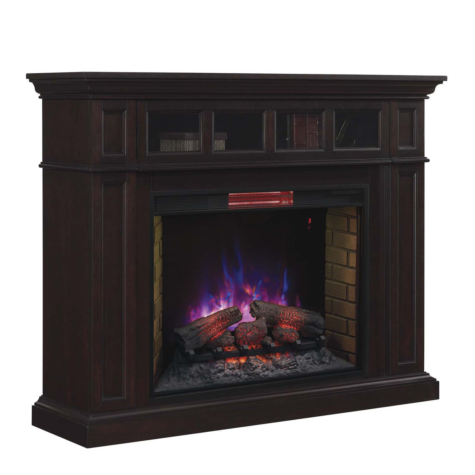 Chimney Free Estate Wall Mantel Electric Fireplace With Infrared Insert Fireplaces At Hayneedle