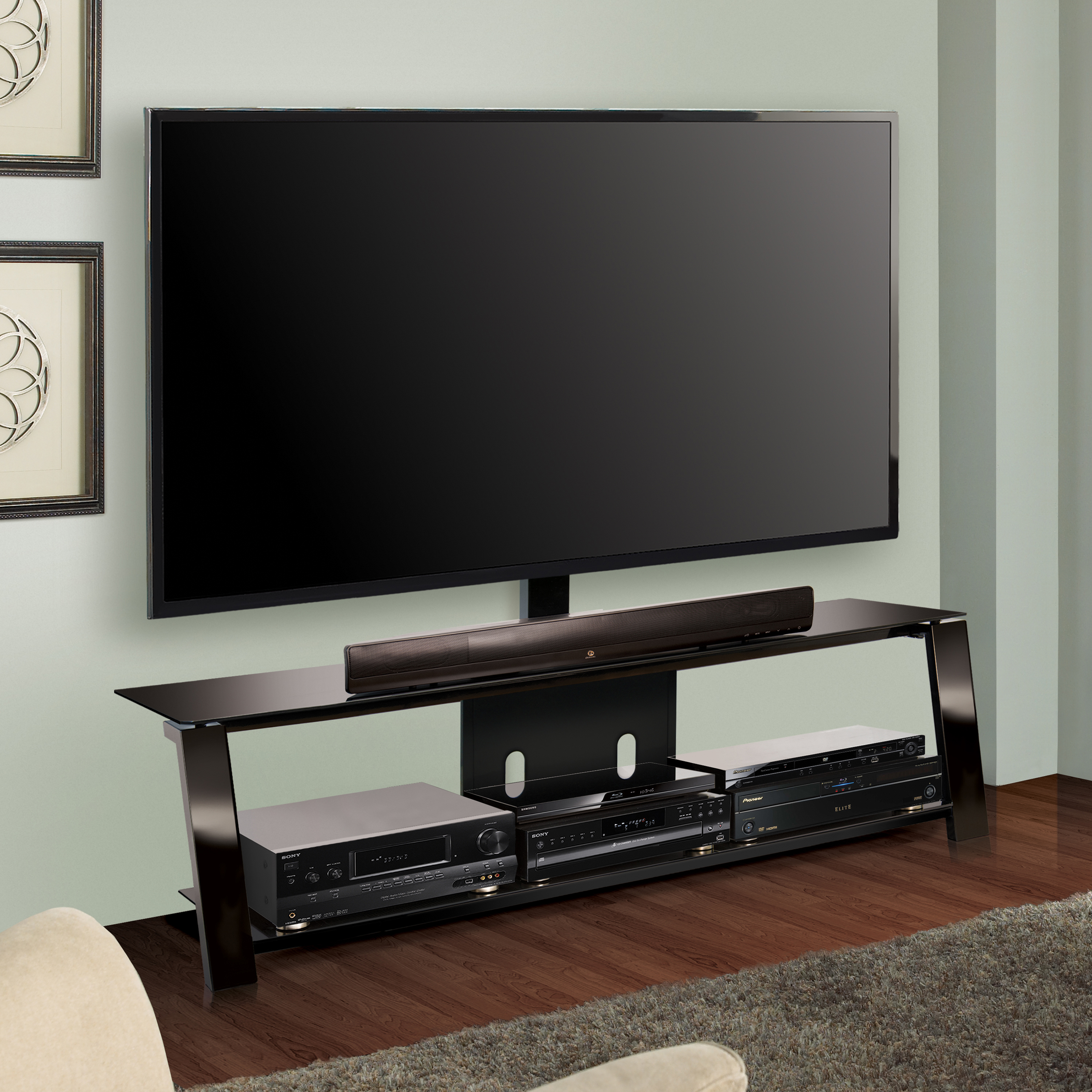 Bello Triple Play 63 In Universal Flat Panel Tv Stand