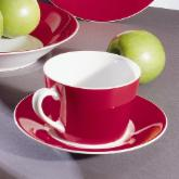  10 Strawberry Street Soho Red Tea Cup and Saucer - Set of 6