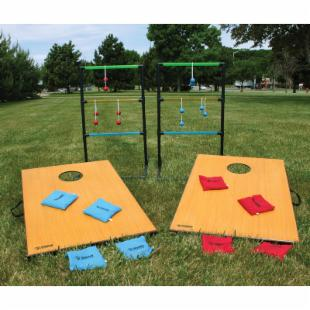 Triumph Sports 2 in 1 Cornhole and Ladderball Set