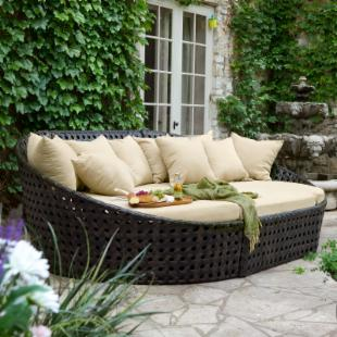Madrid All Weather Wicker Oversized Sectional Daybed