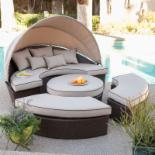 Rendezvous All-Weather Wicker Sectional Daybed