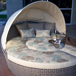 Escapade All-Weather Wicker Reversible Cushion Sectional Daybed