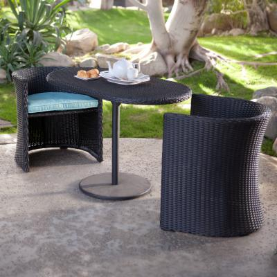 Patan All-Weather Wicker Nesting Bistro Set