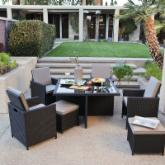  Kubi All-Weather Wicker Nesting Dining Set- Seats 4