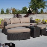  Montclair All Weather Wicker Sectional Sofa Set