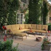 Rioja Collection Aluminum Sectional Set - Seats up to 7