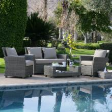  Delphi All-Weather Stone Wicker Conversation Set