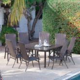  Bellagio Wicker Square Patio Dining Set - Seats 8