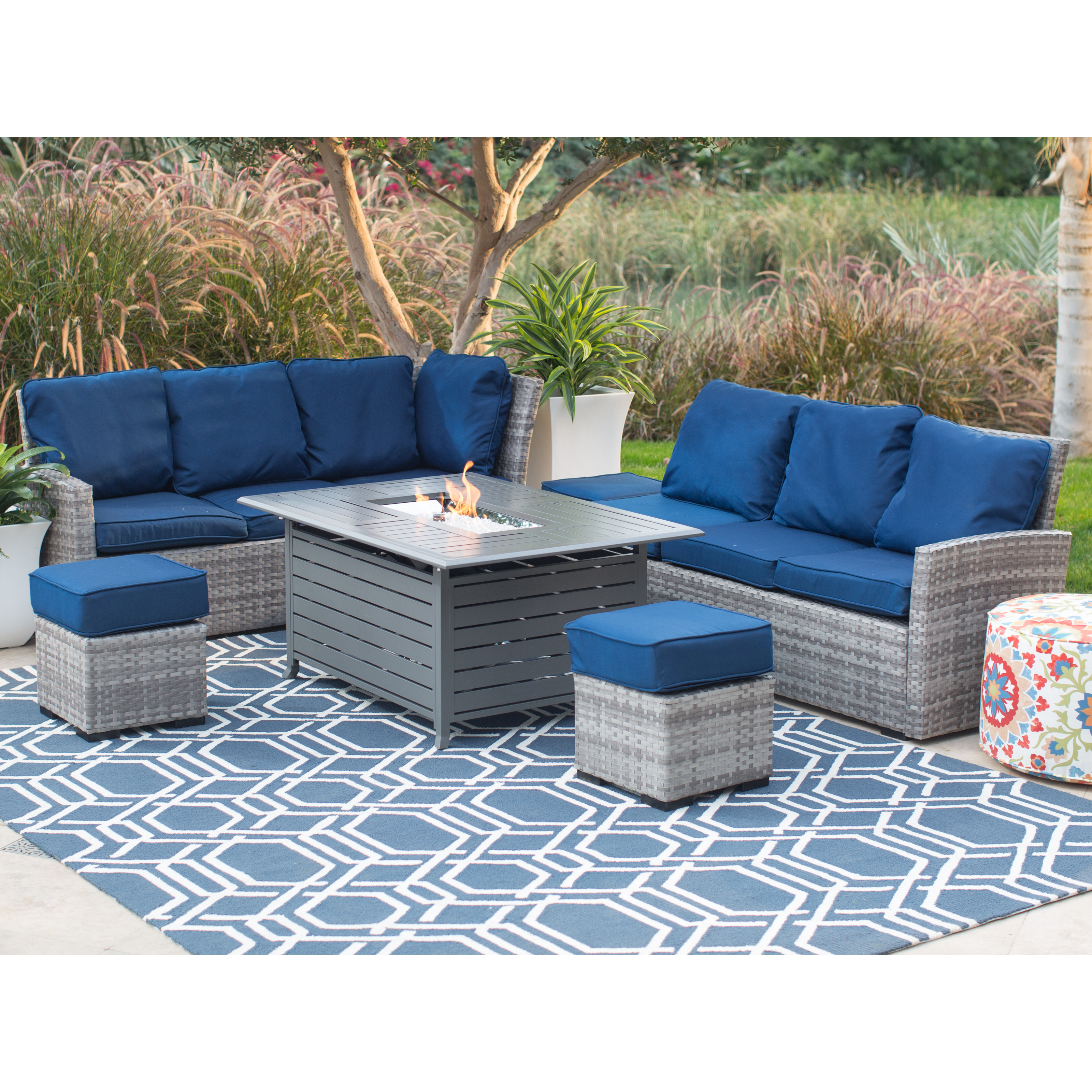 Belham Living Brookville All Weather Wicker Sofa With