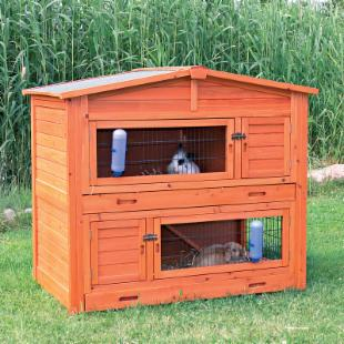 Trixie Natura Small 2 Story Rabbit Hutch