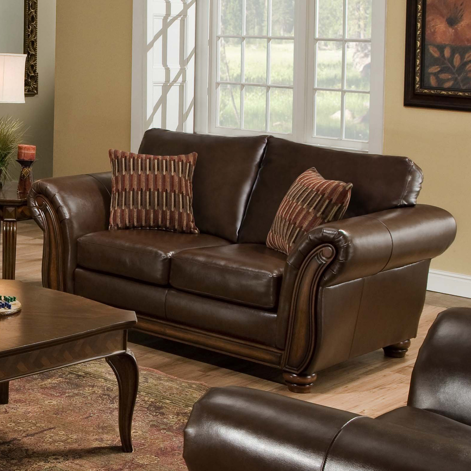 Simmons Leather Sofa And Loveseat Nail Panama Espresso Sofa And Loveseat By Simmons The Best
