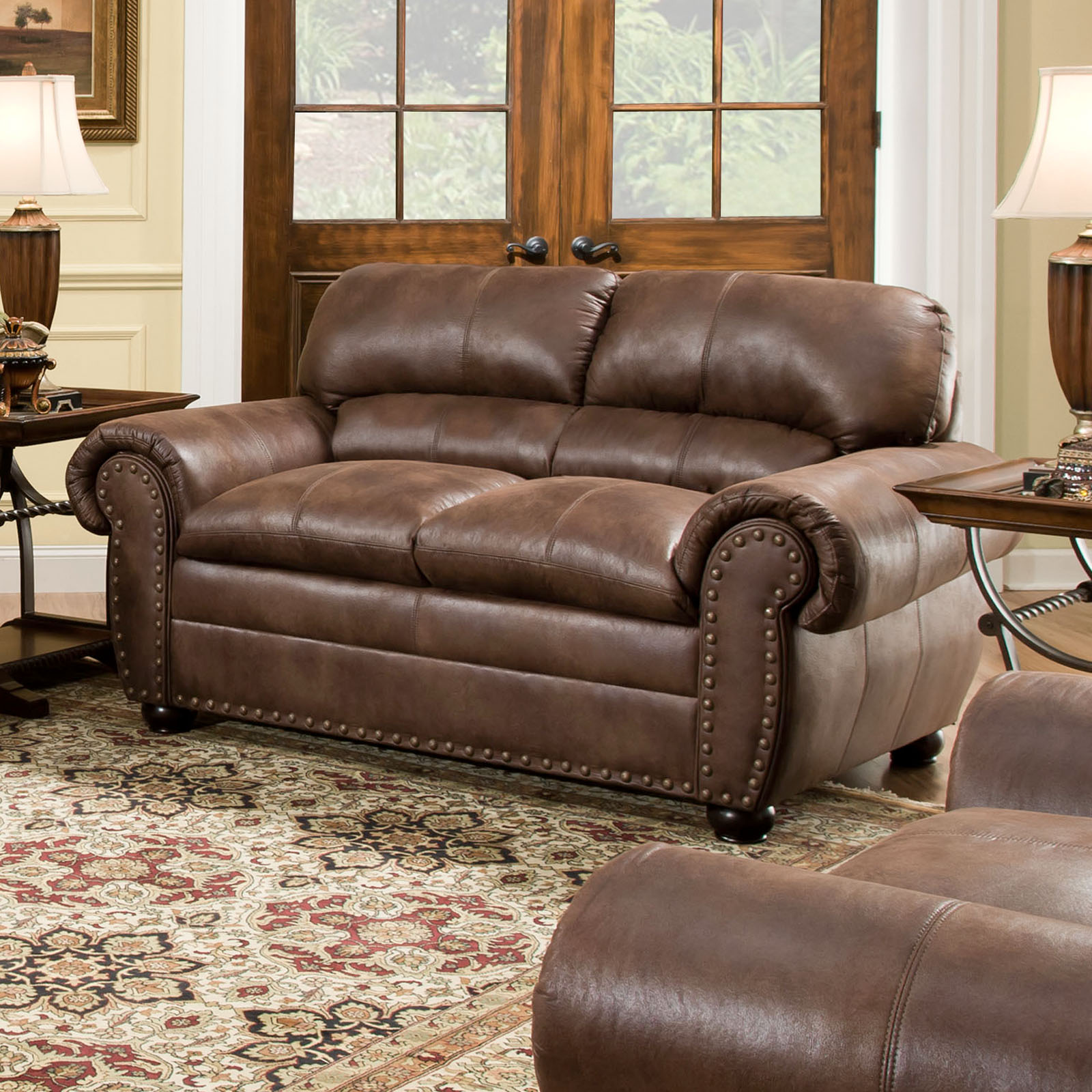 Simmons Upholstery Padre Loveseat Espresso Sofas Loveseats At Hayneedle