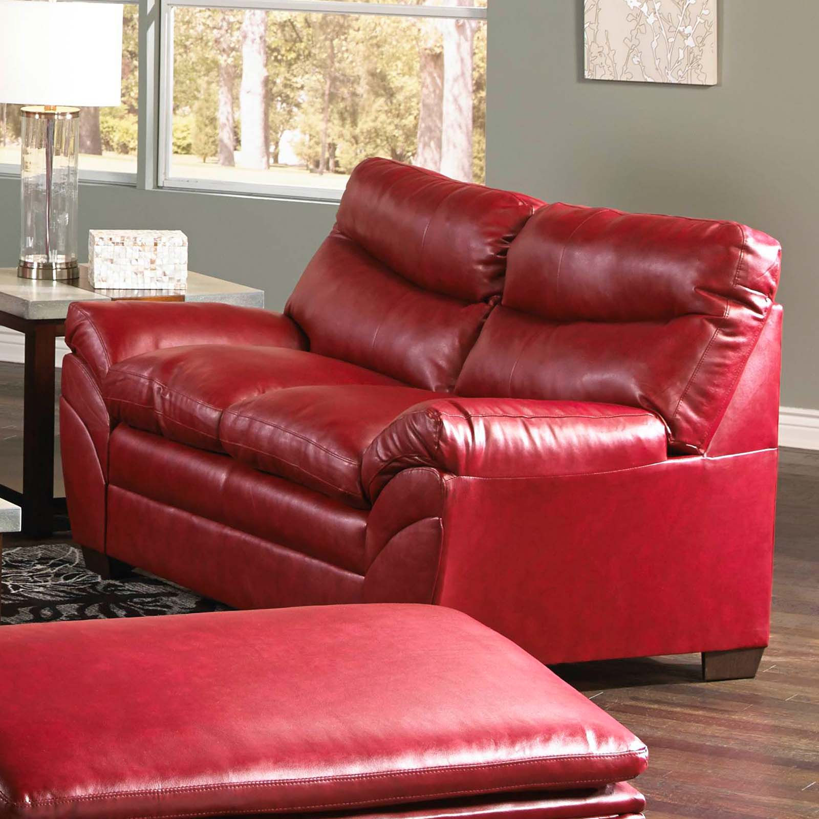 Simmons Upholstery Soho Bonded Leather Loveseat Cardinal Sofas Loveseats At Hayneedle