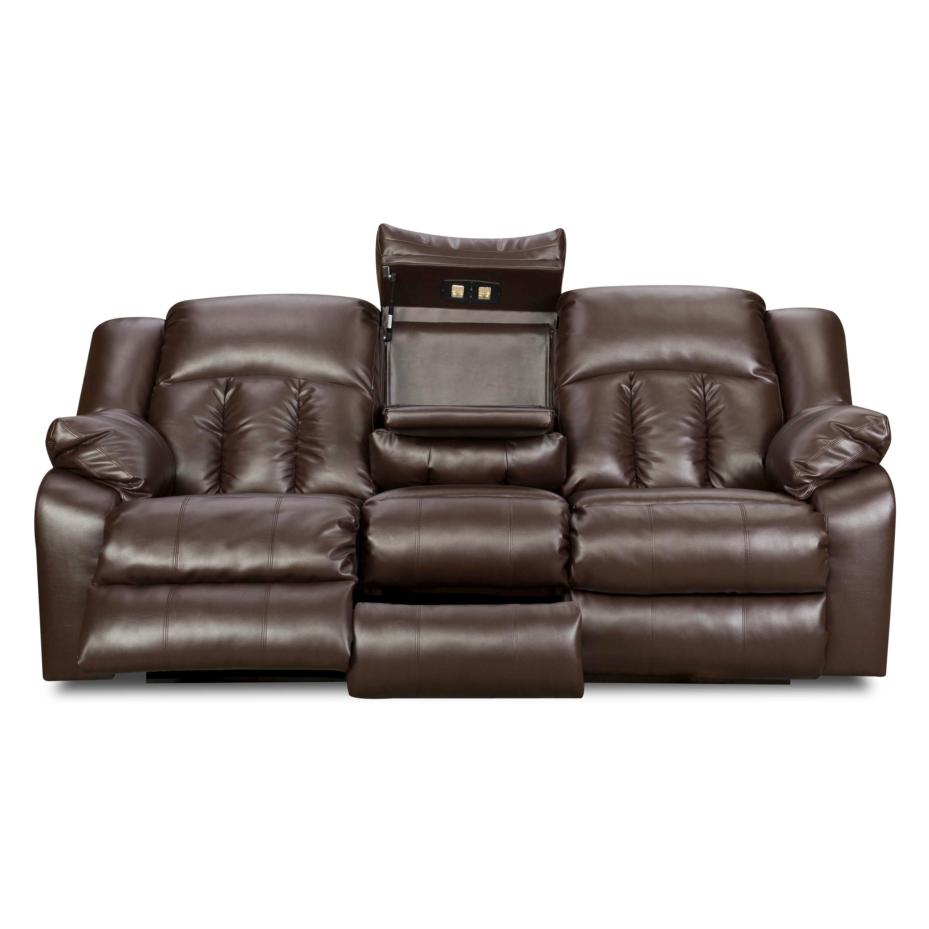 Simmons Upholstery Sebring Bonded Leather Double Motion Sofa Sofas Loveseats At Hayneedle