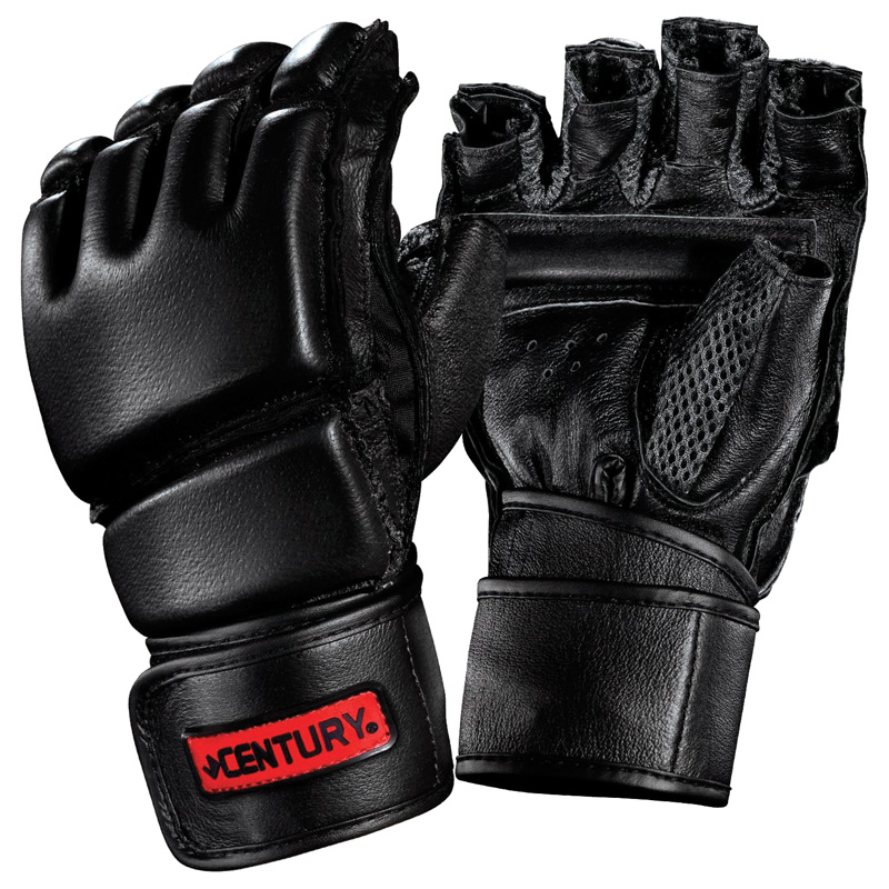 Century Mens Leather Wrap Gloves With Clinch Strap