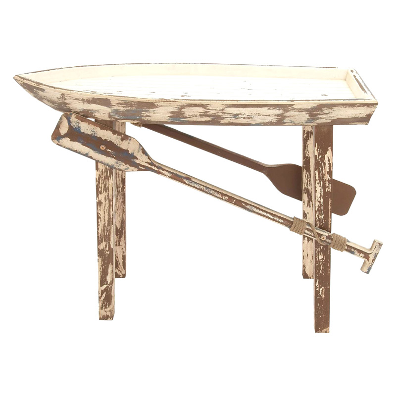 Decmode wood boat console table tables at hayneedle