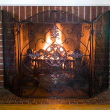 Uttermost 3 Panel Egan Fireplace Screen