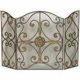 Uttermost 3 Panel Jerrica Fireplace Screen